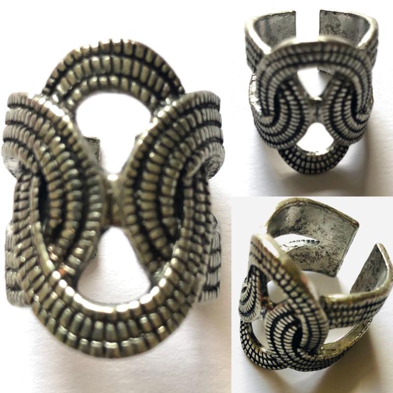 Vintage boho gevlochten ring