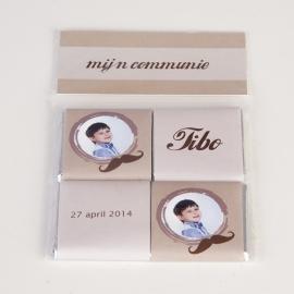 TIBO - zakje met 4 chocolaatjes 5 gram