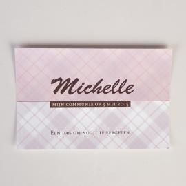MICHIEL&MICHELLE - herinneringskaartje