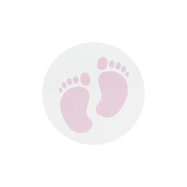 Sluitzegel lichtroze voetjes