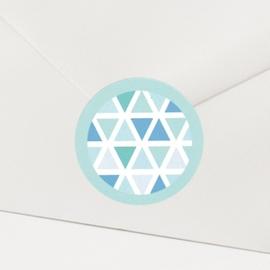 Sluitzegel passend bij de moderne uitnodiging met speelse ruitjes