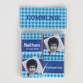 NATHAN - zakje met 4 chocolaatjes 5 gram
