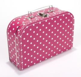 Koffertje 25cm | fuchsia STIP