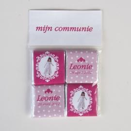 LEONIE - zakje met 4 chocolaatjes 5 gram