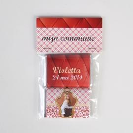 VIOLETTA - zakje met 2 chocolaatjes van 9 gram