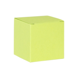 Limoengroene kubus