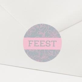 Sluitzegel passend bij de uitnodiging met zoete bloemenprint
