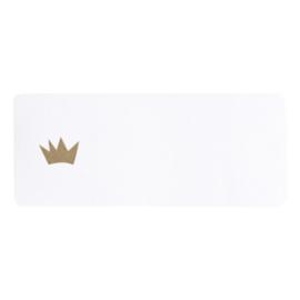 Adresetiket gouden kroon