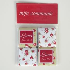 LUNA - zakje met 4 chocolaatjes 5 gram