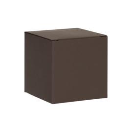 Donkerbruine kubus