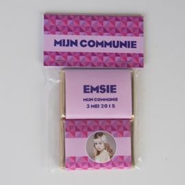 EMSIE - zakje met 2 chocolaatjes van 9 gram