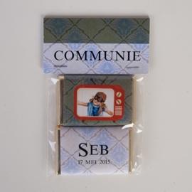 SEB - zakje met 2 chocolaatjes van 9 gram