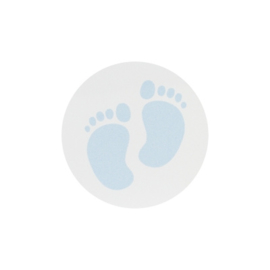 Sluitzegel lichtblauwe voetjes
