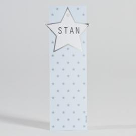 Lang label met sterretjes