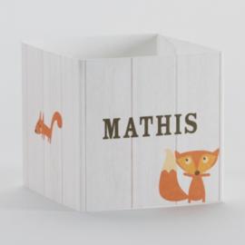 Wikkel voor kubus met bosdiertjes