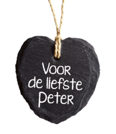 Natuursteen voor de liefste Peter