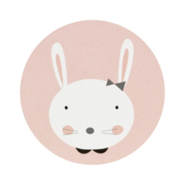Sluitzegel konijntje met strik
