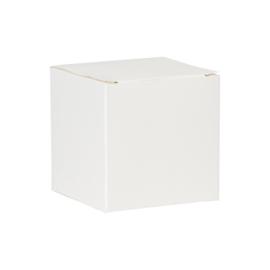 Witte kubus met glinstereffect