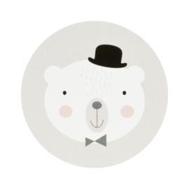 Sluitzegel beer met bolhoed