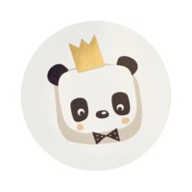 Sluitzegel panda met gouden kroon