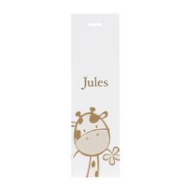 Lang label giraf