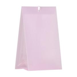 Roze snoepzakwikkel in kunststof