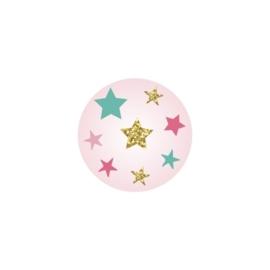 Sluitzegel passend bij de uitnodiging met sterren en glitters