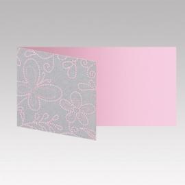 Tafelkaartje passend bij de uitnodiging met zoete bloemenprint