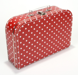 Koffertje 35cm | rood STIP
