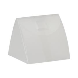 Driehoekig doosje in kunststof