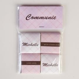 MICHELLE - zakje met 4 chocolaatjes 5 gram