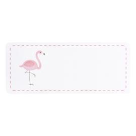 Adresetiket roze flamingo