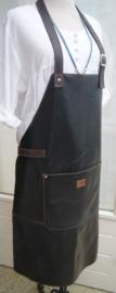 BBBB schort  donkerbruin (gerecycled leer)