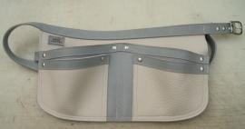 Spijkerschort beige/ grijs