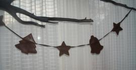 leren guirlande kerst