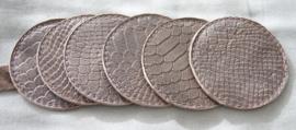 Onderzetters snake bruin