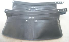 Spijkerschort XL zwart