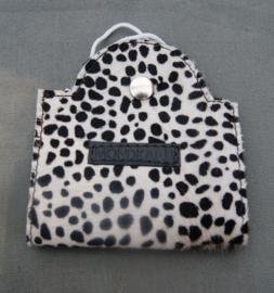 mondkapmapje cheetah zwart-wit