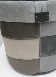 Overpot grijs lapjes XL
