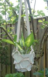 Plantenhanger beige/gebroken wit