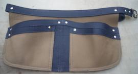 Spijkerschort Blauw/ taupe