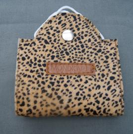 mondkapmapje mini cheetah zwart-camel