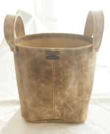 Leren bucket