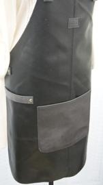 BBBB schort zwart/ grijs (gerecycled leer)