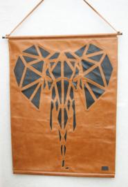 Poster van leer olifant