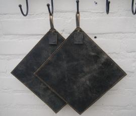 Pannenlappen vintage zwart of zwart