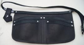 Spijkerschort zwart/grijs