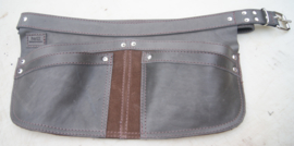 Spijkerschort donkergrijs/ bruin