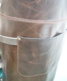 BBQ schort  antiekbruin (gerecycled leer)