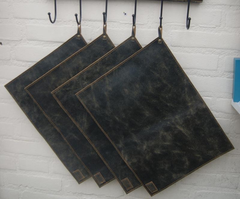 Placemats vintage zwart (dubbel)